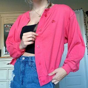 Vintage Nike Baby Pink Sweater Cardigan